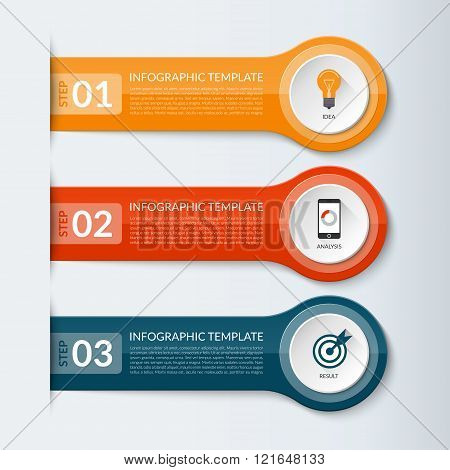 Abstract vector design template for infographics