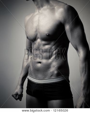 Closeup of a handsome man's torso