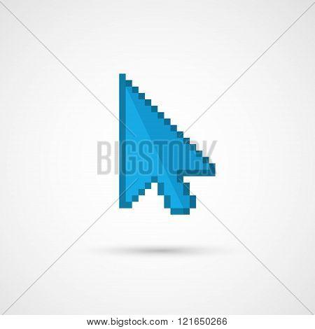 Pixel cursor icon - Cursor.Vector Illustration.