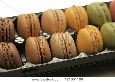 Macarons In A Tray
