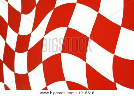 Bright Orange Checkered Flag Background