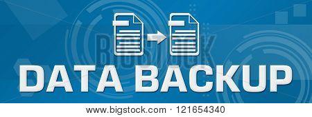 Data Backup Technical Background Horizontal