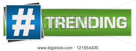 Trending Green Blue Horizontal