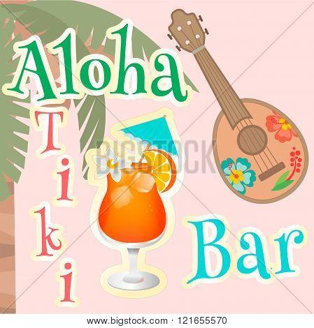 Poster Hawaiian Bar Aloha