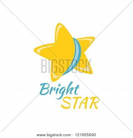 Bright Star Icon Sign Logo Badge