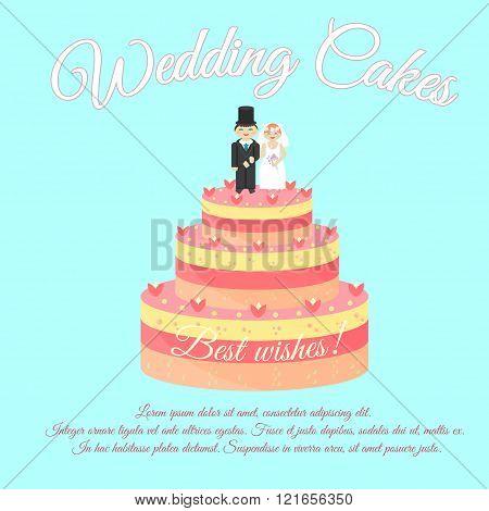 Wedding Cakes. Best Wishes.