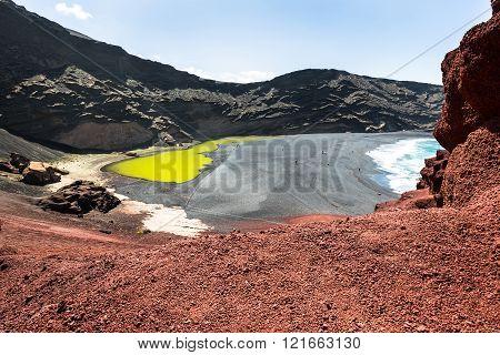 Green Lagoon At El Golfo, Lanzarote, Canary Islands