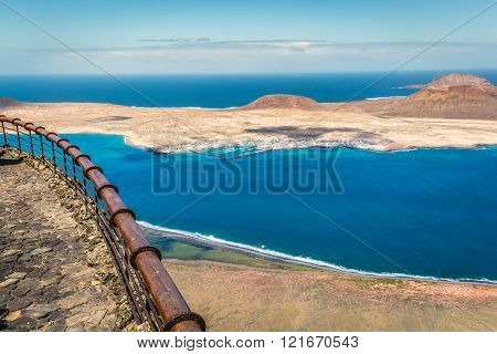 View Of Graciosa Island From Mirador Del Rio, Lanzarote Island, Canary Islands, Spain