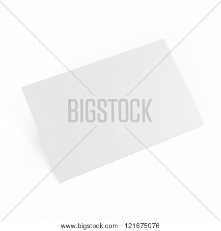 business cards template isolated on white background.