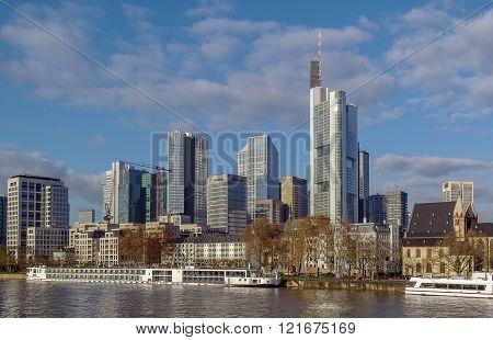 View Of Frankfurt Am Main, Germany