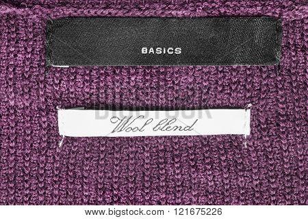 Clothes Labels Closeup