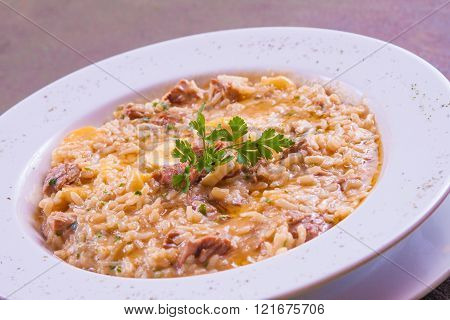 Jerked Beef Risotto
