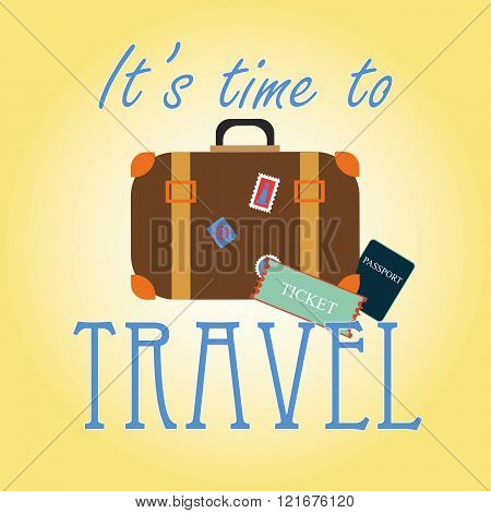 'It's time to travel' card
