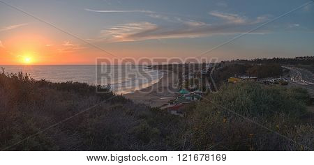 Cottages along Crystal Cove Beach
