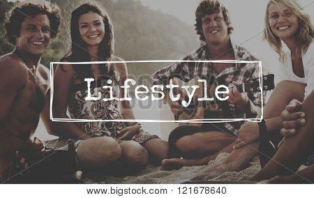 Lifestyle Lifetime Life is Simple Concept