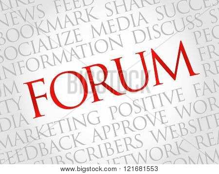 Forum word cloud business concept, presentation background