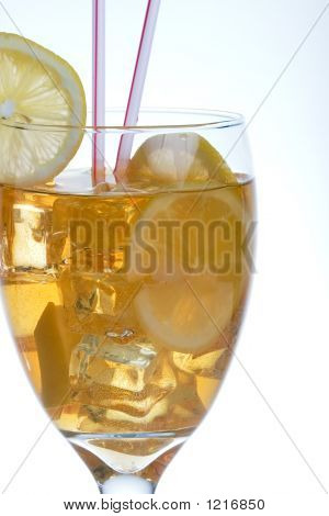Closeup Of Iced Tea
