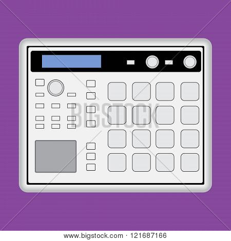 Music midi production center sampler sequencer drum machine