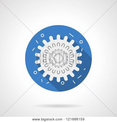 Influenza icon blue round flat vector icon
