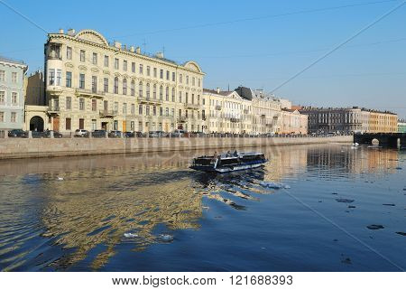 Fontanka River In   Saint-petersburg
