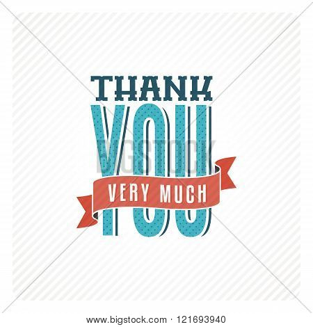 Vintage Thank You Card
