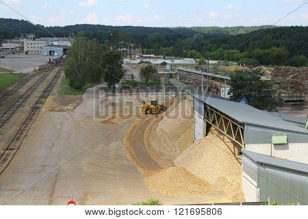 Wood chips storage