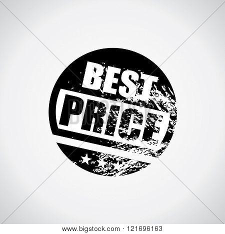 Best price stamp style black sticker with grunge design and ink splatter