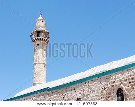 Minaret of Great Mosque in Ramla Israel
