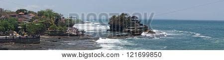 BALI, INDONESIA - SEPTEMBER 29, 2015: Tanah Lot temple during tidal water on September 29, 2015 in Bali, Indonesia