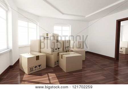 Room Empty And Box