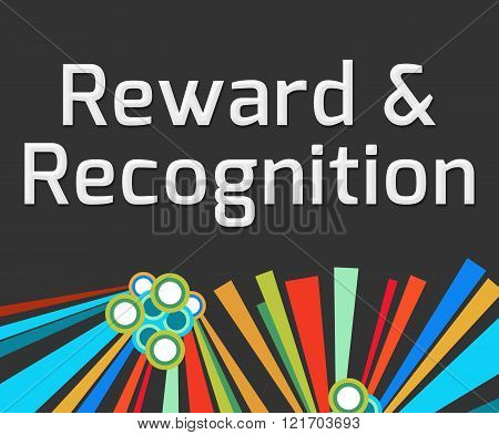 Reward Recognition Dark Colorful Elements