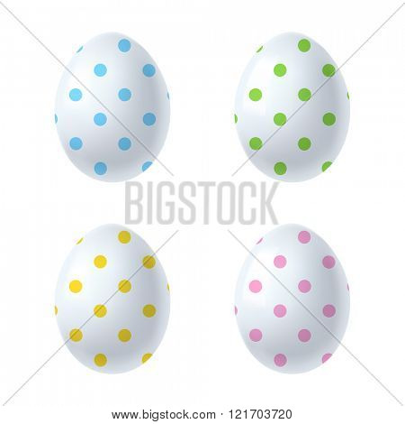 easter eggs isolated on white background 10eps