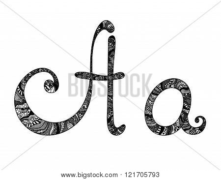 Vector Font Artistic Lettering Typographic Illustration