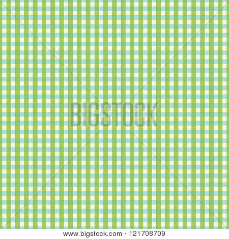 Checkered Pattern Green Blue On White Background