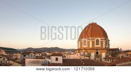 Medici Chapel In Florence, Italy In Evening Light