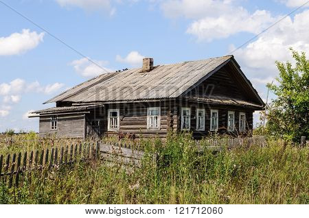 Old abandoned wooden house in North of Russia