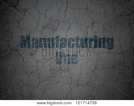 Industry concept: Manufacturing Line on grunge wall background