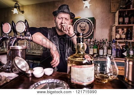 Man With Cigar In The Pub