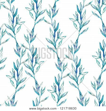 Watercolor Floral Seamless Pattern.