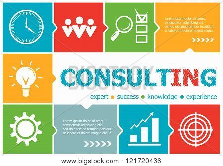 Consulting Design Illustration Concepts For Business, Consulting, Management, Career.