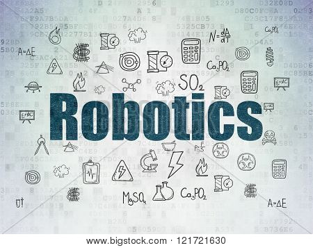 Science concept: Robotics on Digital Paper background