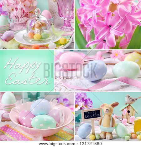 Easter Collage In Pastel Colors