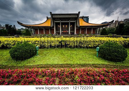 The National Sun Yat-sen Memorial Hall In The Xinyi District, Taipei, Taiwan.