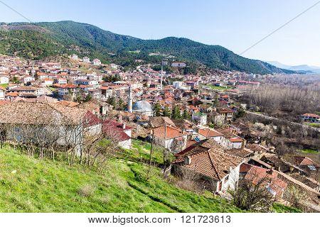 High angle view of traditional town Tarakli