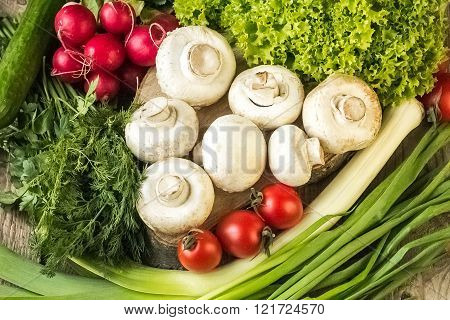 Organic Food Background Vegetables
