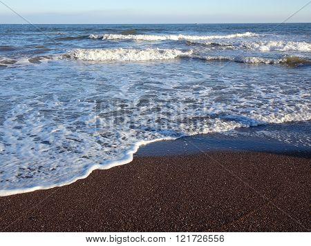 Beach And Waves Seascape