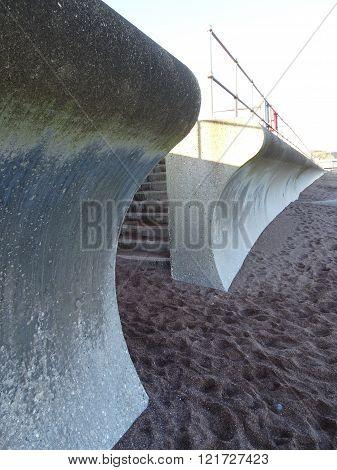 Beach Promenade And Steps