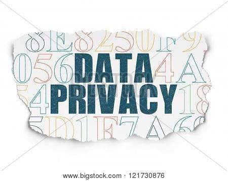 Security concept: Data Privacy on Torn Paper background