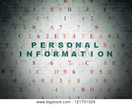 Privacy concept: Personal Information on Digital Paper background
