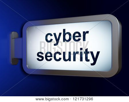 Security concept: Cyber Security on billboard background